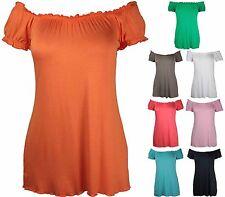 Women's Plus Size Stretch No Pattern Tops & Shirts