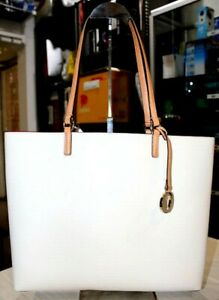 Oroton Saffiano Leather Cream Large Estate Shopper Tote Bag-Very Good Condition