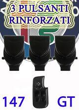 KIT 3 Pulsanti per pulsantiera alfa 147 e GT alzacristalli pulsante finestrino