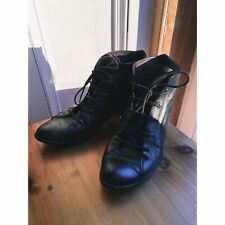 Russell and Bromley Black Leather Lace Up Ankle Boots UK 4 (EU 37, US 6 6.5)