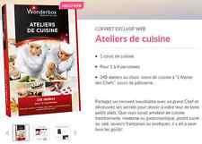 Coffret E-Billet Wonderbox ''Ateliers de cuisine'' 65€ au lieu 79€