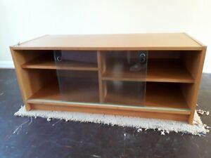 Ikea Bonde Beech Effect Tv Cabinet and Turn Table