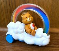 Care Bears Rainbow Roller Vehicle & Tenderheart Figure Lot Vintage Kenner 1983
