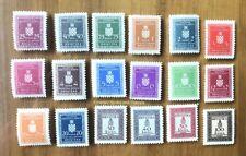EBS Croatia Hrvatska NDH 1942 Official Stamps Michel No D1-D18 MNH**