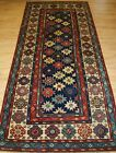 Antique Caucasian Talish Long Rug With Star Design, Superb Colours, Mid 19th C