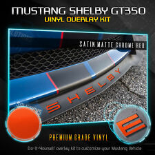 For 2015-2018 Ford Mustang SHELBY GT350 Front Splitter Decal Satin Matte Chrome