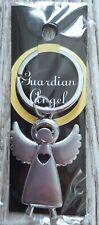 Schlüsselanhänger Schutzengel Engel Guardian Glück Herz Edelstahl Anhänger NEU