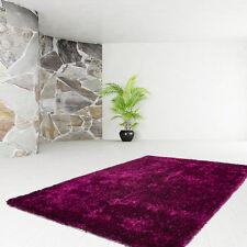 poils longs Tapis de qualité uni Shaggy Moderne SOLDES violet noir 120x170