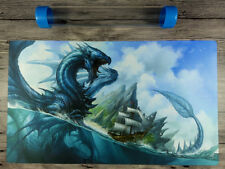 YuGiOh/MTG/VG Blue Dragon Duel Battlefield Custom Playmat TCG Mat Free Best Tube