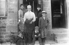 LADIES & SCHOOLBOYS Antique Photographic Glass Plate Negative (Victorian Dress)