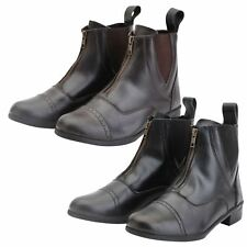 Horka Royal Ladies Men Kids Synthetic Front Zip Up Horse Riding Jodhpur Boots