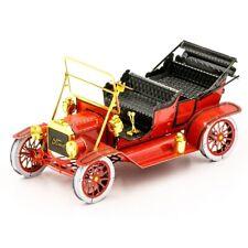 Fascinations Metal Earth 1908 FORD MODEL T (Red Color) 3D Steel DIY Model Kit