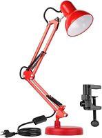 Metal Adjustable Swing Arm Desk Lamp, Eye-Caring Study Desk Lamps