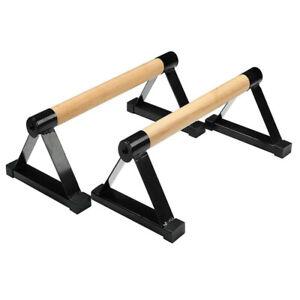 Holz-Parallettes, Liegestützstange aus Holz,Liegestütz-Ständer,Indoor-Ausrüstung