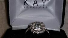 *OUTSTANDING* Kay Jewelers Sterling Silver White Sapphire Halo Ring (Size 7)