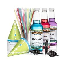 Hawaiian Shaved Ice 3 Flavor Fun Pack of Snow Cone Syrup 3 Pint... Free Shipping