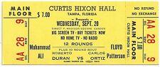 1972 Full Closed Circuit Boxing Fight Ticket Muhammed Ali vs. Floyd Patterson