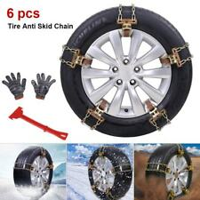 6* Auto Reifen Anti Rutsch Ketten Schneeketten Verdickung 235-285 mm Eis Spikes