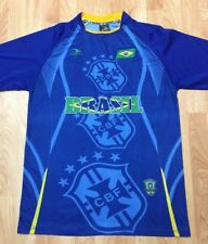Men's One Size Blue & Yellow Brasil CBF Drako Soccer Polyester S/S Jersey GUC