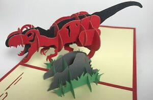 Dinosaur Pop Up Card Boy Birthday Card Retirement Card Over The Hill Animal Dad
