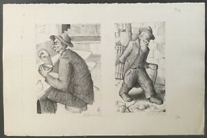 American Lithograph signed by Arthur Josephson 1948 from Will Barnet estate