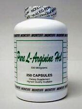 Montiff Pure L-Arginine HCl 500 mg 250 caps