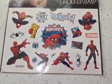 Spiderman Temporary Tattoos