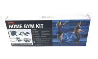 SPRI Home Gym Kit 4pc Push Up Bars Ab Wheel Jump Rope Resistance Tube NEW