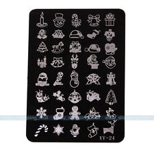 1x About Christmas Design Stamping Plate Stencils Device Nail Art Xmas Plate