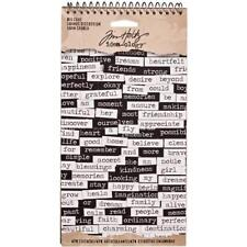 "TIM Holtz idea-ology SPIRALE vincolati Adesivo BOOK 4,5 ""x8,5"" - BIG CHAT"