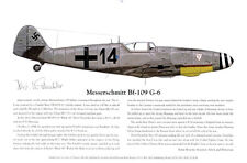 DISCOUNT! Bf-109G-6, Signed by the Ace, Aviation Art Laser Print, Ernie Boyette