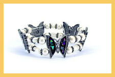 """Magnetisme, Bracelets """" Papillons de Printemps"""" 18 Aimants x 800 Gauss, Hematite"""