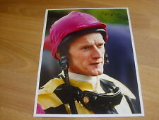 DEAN mckeown HORSE RACING Jockey 16/04/98 Mano Originale Firmata Stampa Foto