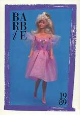 """Barbie Collectible Fashion Card """" Party Treats Barbie, Toys R Us """" 1989"""