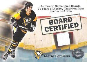 Mario Lemieux 2001-02 Fleer Greats of the Game Board Certified Joe Louis Arena