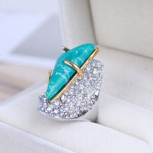 ALEXIS BITTAR Crystal Encrusted Roxbury Ring size 7