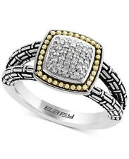 Beautiful Effy Balissima Silver And Gold ring - Size 7