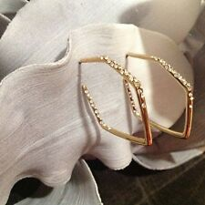 Alexis Bittar Swarovski Crystal Encrusted Gold Geometric Hoop Earrings $136