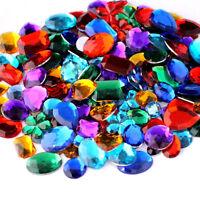Mixed Acrylic Gemstones Gems Jewels Craft Embellishments Cards 100g