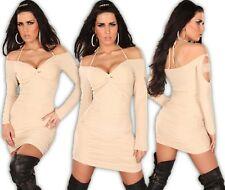 Carmen vestido mini encaje HOMBROS DESCUBIERTOS DE Boda Noche BG