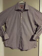 """EUC>>Men's>>Dress Shirt>>Pink>>Size 17 pit-to-pit is 24"""">Long Sleeve>Button Down"""