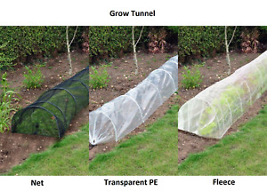 NEW HEAVY DUTY GROW TUNNEL FOR VEGETABLES PLANT PROTECTION ALLOTMENT GARDEN