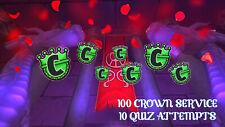 Wizard101 100 Crown Service   10 Quizzes