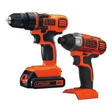 BLACK+DECKER 20V MAX* Drill/Driver + Impact Combo Kit - BD2KITCDDI