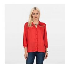 NEW VOLCOM SURF KNOTTY L/S BUTTON DOWN SHIRT BLOUSE TOP SMALL 23-23