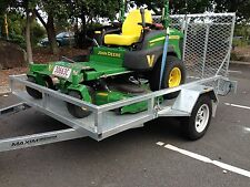 "72"" ZERO TURN RIDE ON MOWER TRAILER GALVANISED TORO John Deere Etc Mowing"