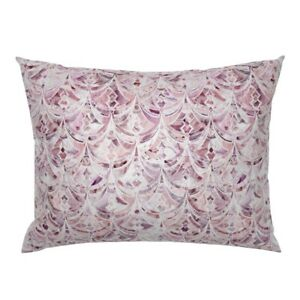 Marbling Rose Quartz Art Deco Plum Pink And Pillow Sham by Roostery