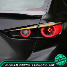 New For Mazda 3 Axela LED Taillights 2014-2019 Dark LED Rear Lamps Dynamic