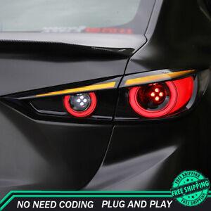 New For Mazda 3 Axela LED Taillights 2014-2019 Dark LED Rear Lamps Dynamic