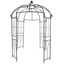 OUTOUR Garden Metal Gazebo Trellis Arch Arbor Plants Stand Rack For  Rosesu0026Vines